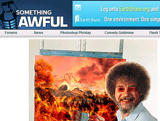 Bob Ross Photoshop, somethingawful.com