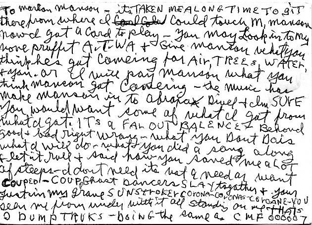 manson letter