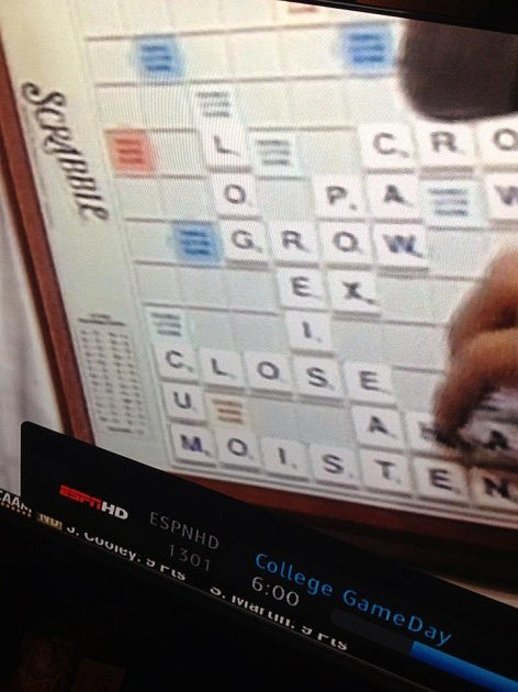 Barret Jones Playing Scrabble