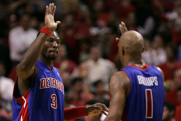 Detroit Pistons Legends Chauncey Billups and Ben Wallace