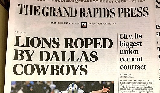 Today's Grand Rapids Press (Johnnie Walker/Townsquare Media)