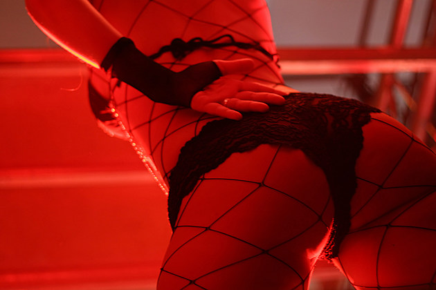 Dancer in a red light