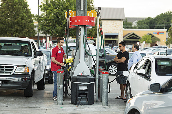 Texas Residents Prepare As Hurricane Harvey Likely To Boost Gas Prices For U.S. Drivers